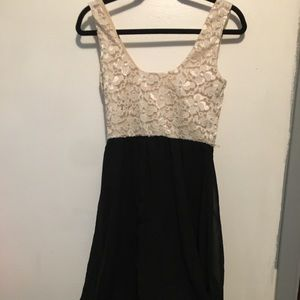Black and cream home coming dress